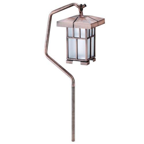 Intermatic CS17K Malibu Outdoor One-Light Mission Walk Light with 11-Watt Bulb, Antique Copper ()