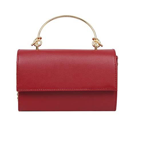 Messenger Bags for Women Thenlian Solid Crossbody Messenger Handbag Purse Totes Shoulder Bags(Free, Red)