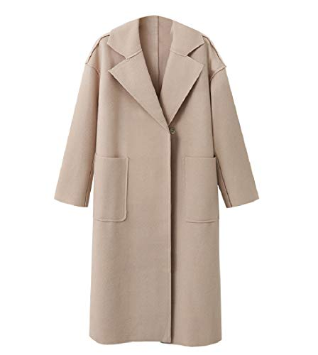 Jacket Women's Blend Turn Slim Trench RkBaoye Beige Collar Fit Down Wool Coat dIHvnwnq