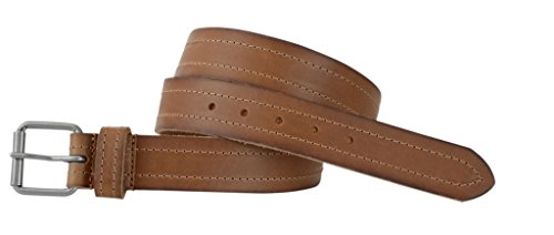 Men's Full Grain One Piece leather Belt, Roller Buckle, 1.5