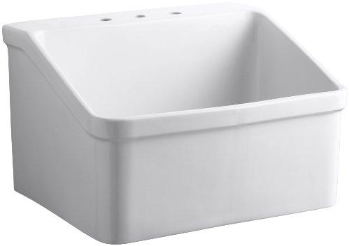 KOHLER K-12794-0 Hollister Utility Sink, White by Kohler