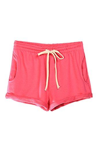 Taglia Beachwear Le Yulinge Pantaloncini Di E Lino Donne Elasticizzati 13 Cotone zrdr8q