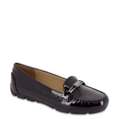 897dd020d333 Geox Femme D Marva C-Black Cuir Verni Mocassins - Noir - Noir