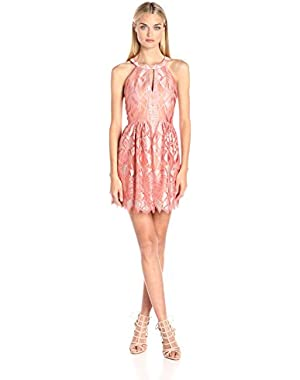 BCBGMax Azria Women's Megyn Halter Cocktail Dress