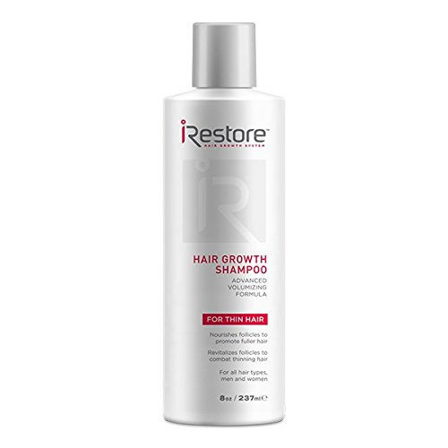 iRestore Hair Growth Shampoo with Amino Acids, Aloe Vera, Antioxidants, Green Tea Extract – Perfect For Hair Loss, Balding & Thinning Hair – For All Hair Types, Men and Women (8oz / 237ml)