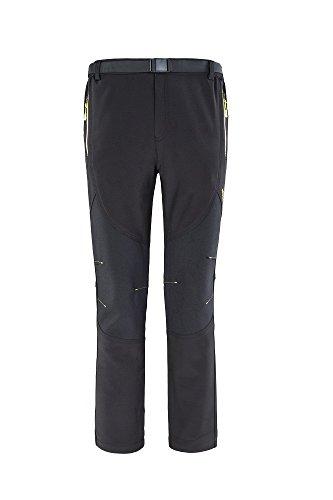 Mens Windproof Outdoor Mountain Hiking Pants Water Resist Fleece Work Cargo Pants Snow Ski 5XL