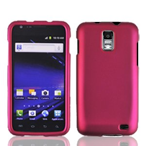 II Skyrocket S2 i727 Accessory - Pink Hard Case Protector Cover + Free Lf Stylus Pen (Skyrocket Extended Battery)