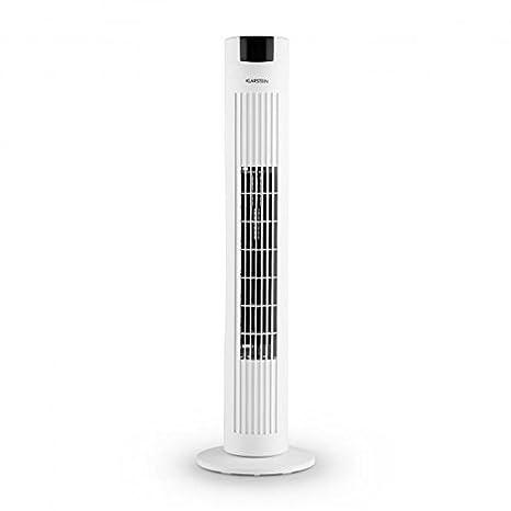Diffuseur de parfum 3 Vitesses fonction oscillation Filtre /à air pour /éliminer les particules de poussi/ère de commande distance Blanc Klarstein Skyscraper 2 g Ventilateur tour de pied Panneau tactile