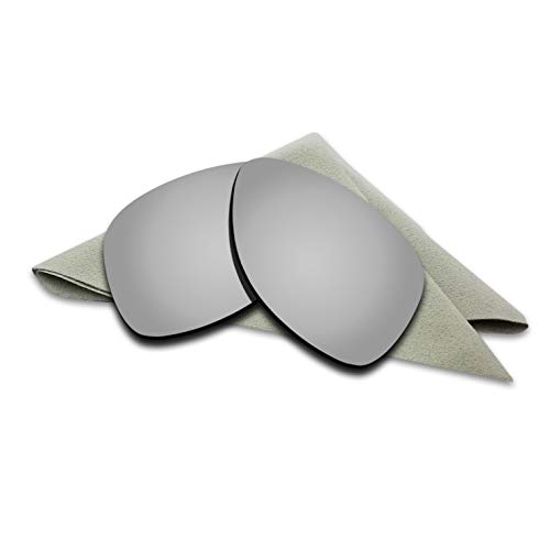 Polarized Lenses Replacement for Oakley Dispatch 2 Silver Titanium Mirrored