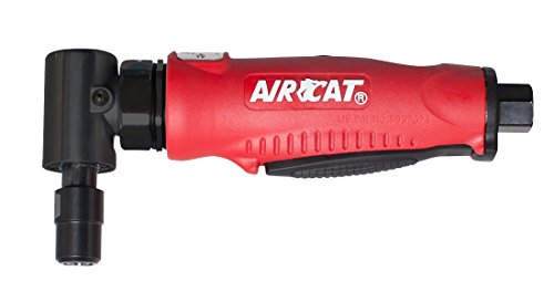 Angle Die Grinder Right - AIRCAT 6255 Professional Series Red Composite Angle Die Grinder With Angled Gear Mechanism