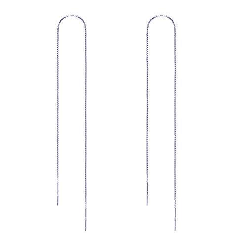 (OwMell Long Sterling Silver Dangle Earrings for Women 7