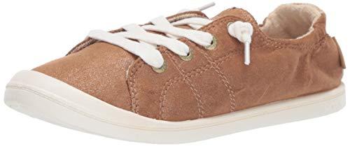 Slip Bronze On (Roxy Women's Bayshore Slip On Sneaker Shoe, Bronze, 11 M US)