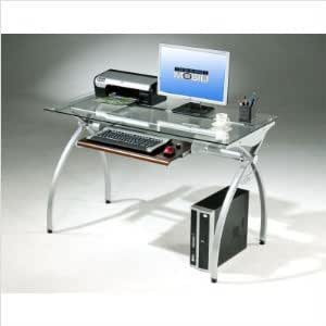 glass and metal computer desk computer table desk office products