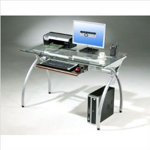 Amazon.com : Techni Mobili Glass and Metal computer desk