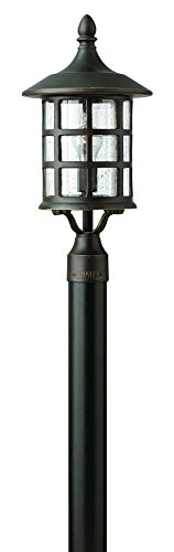 Post Lights Hinkley Lighting - Hinkley 1801OZ Traditional One Light Post Top/Pier Mount from Freeport collection in Bronze/Darkfinish,