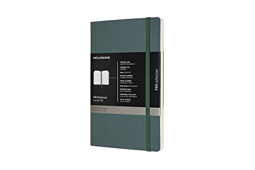 Moleskine Professional Notebook, Large, Forest Green, Soft Cover (5 x 8.25) by Moleskine
