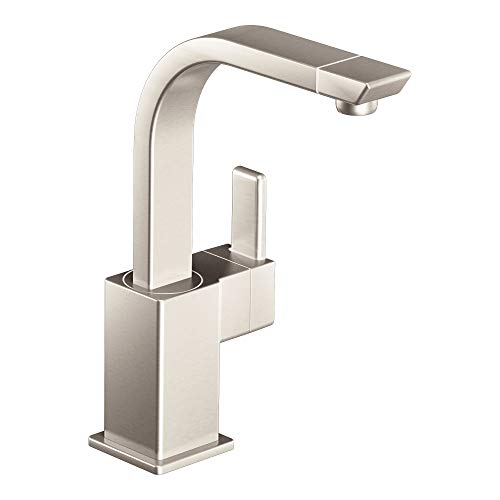 Moen S5170SRS 90-Degree One-Handle High Arc Single Mount Bar Faucet, Spot Resist Stainless