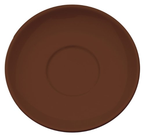 Rattleware Cremaware Brown Saucer, 4.5-Inch, 6-Pack