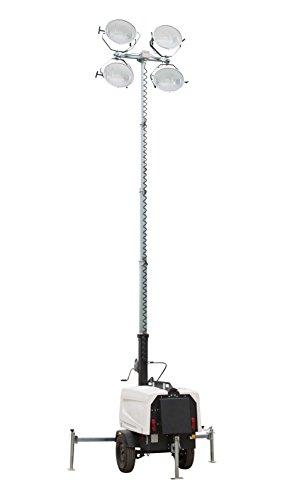 7 500 Watt Generator - Water Cooled Diesel Engine - 25' Telescoping Tower - 4 Metal Halide Fixtures by Larson Electronics