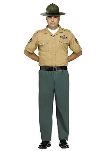 Fun World Men's Marine Drill Instructor Adult Costume, Multi -