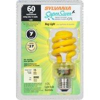 SYLVANIA 13-Watt (60W Equivalent) 3,000K Spiral Medium Base (E-26) Yellow CFL (13w Yellow Bug)
