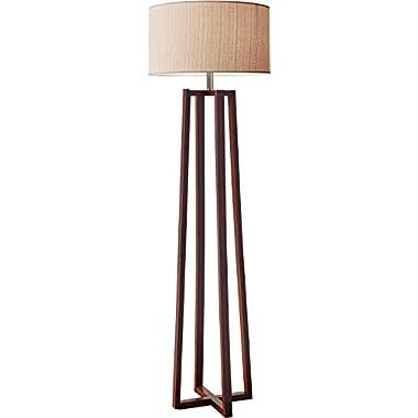 Adesso 1504-15 Quinn Floor Lamp, Walnut