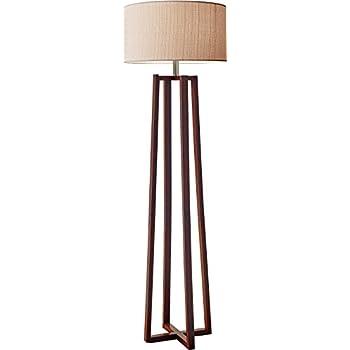 Adesso Quinn Floor Lamp Free Standing Floor Lamp U2013 Walnut Wood Finish Pole  Lamp. Decorative