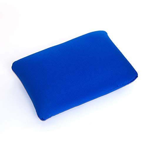 Cushie Pillows 13.5 inches x 10 inches Microbead Squishy/Flexible/Comfortable Rectangle Pillow - Blue