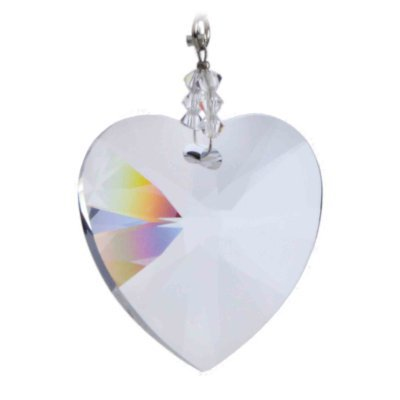 087070721 Swarovski Hanging Crystal Suncatcher/Rainbow Maker Beaded with 40mm Heart  Crystal: Amazon.co.uk: Kitchen & Home