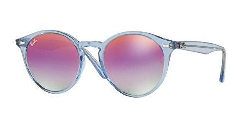 Ray-Ban Men's RB2180F Sunglasses Shiny Light Blue / Green Mirror Lillac Gradient V - Ray Bl Ban