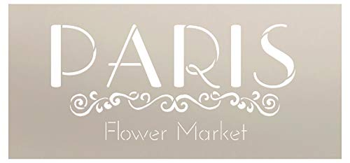 - Paris Flower Market Stencil by StudioR12 | Embellished French Word Art - Reusable Mylar Template | Painting, Chalk, Mixed Media | Use for Journaling, DIY Home Decor - STCL1299 (9
