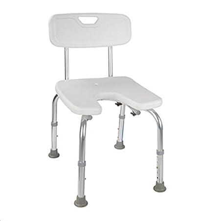 Amazon.com: MedMobile U-shape Aluminum Shower Chair with Back ...
