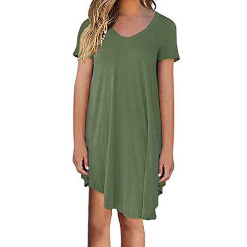 iLUGU Women's Flowy High-Low Dress with ()