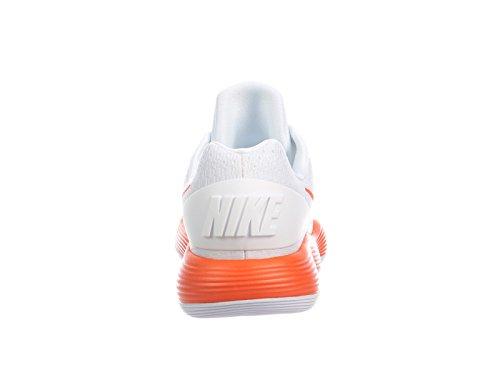 Nike Mens Reageert Hyperdunk 2017 Lage Synthetische Loopschoenen Wit / Briljant Oranje