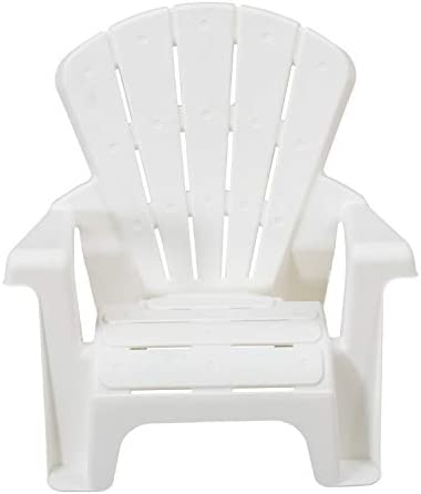 AMAZON BASICS INDOOR AND OUTDOOR PLASTIC TODDLER CHAIRS - 4 PACK, WHITE