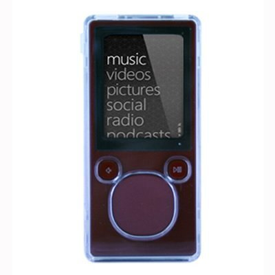 Microsoft ZUNE 4GB 8GB Crystal Clear Hard Plastic Snap-On Carrying Case (Carrying Case Zune)