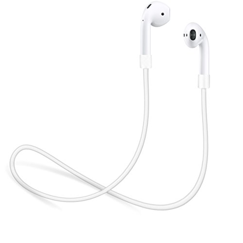 (innoGadgets Strap for Apple AirPods | Smart Accessory - Never Lose your AirPods | Connector Wire Cable Cord for AirPods | White - 22 inches)