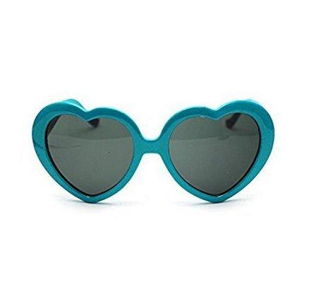 de de Soleil de en Coeur Lunettes Vacances de de de Blue Soleil Plage Forme Lunettes Sixlus Femme vC0w11