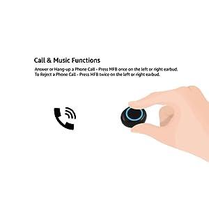 pTron Bassbuds in-Ear True Wireless BT earbuds