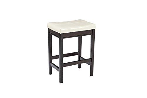 Ashley Furniture Signature Design - Kimonte Upholstered Barstool - Set of 2 - Ivory with Black Base