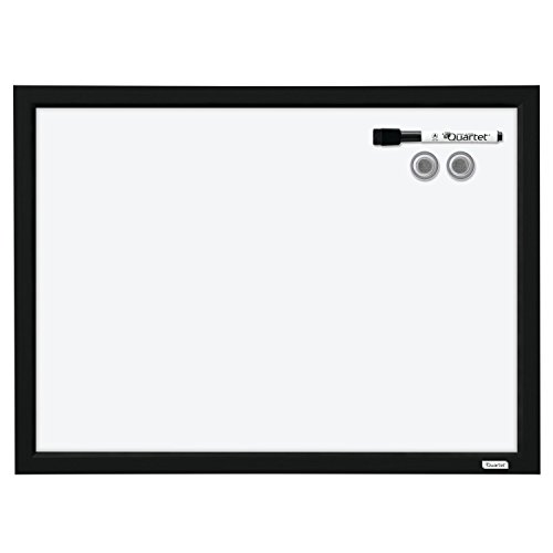 "Quartet Dry Erase Board, Whiteboard / White Board, Magnetic, 17"" x 23"", Black Frame (MWDW1723M-BK)"