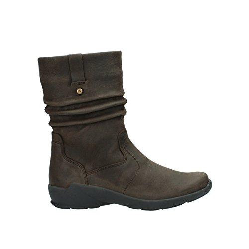 Brown 11302 01572 Womens Wolky Luna Nubuck Boots fCxRwqU