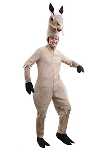 Adult Llama Costume Large Brown -