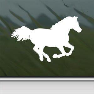 (Western Running Horse Sticker Decal Car Window Wall Macbook Notebook Laptop Sticker Decal (white))