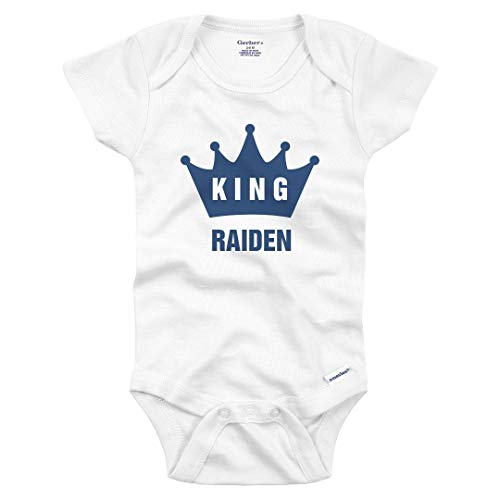 Funny King Baby Raiden Crown Onesie: Infant Gerber Onesie White