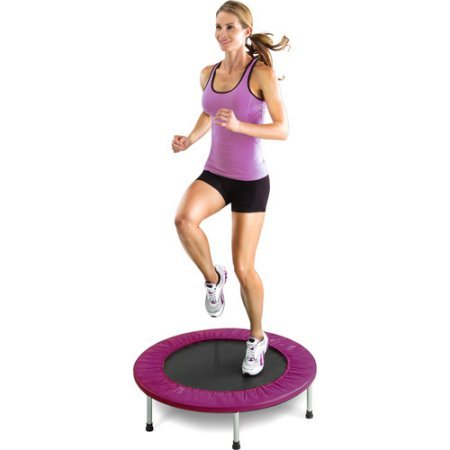Gold's Gym Leisure Outdoors Sports & Fitness Mini Trampolines with Safety Pad -Purple