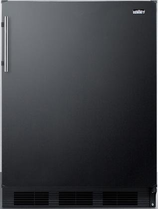 """Summit FF63B 24"""" Freestanding Compact Refrigerator with 5.5"""