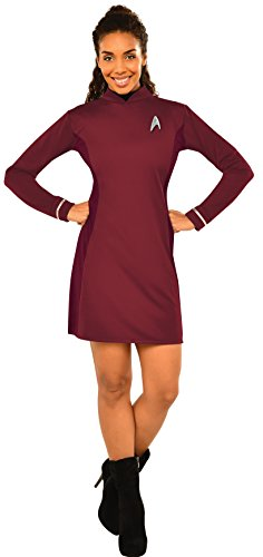 Rubie's Women's Star Trek: Beyond Uhura Deluxe Costume Dress, Red, Large