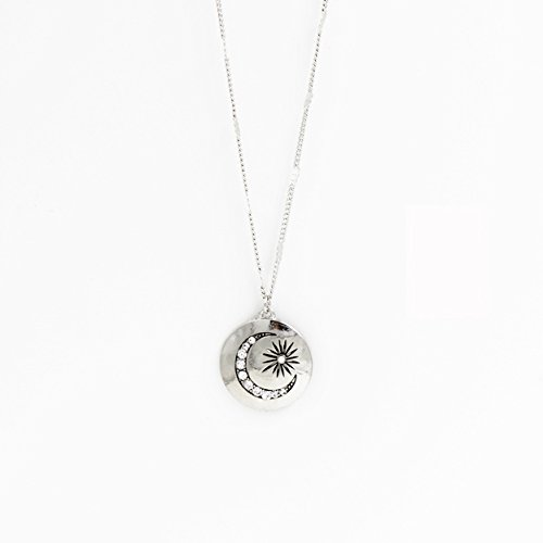 Strass Lune Pendentif Chaîne Collier Bijoux De Mode