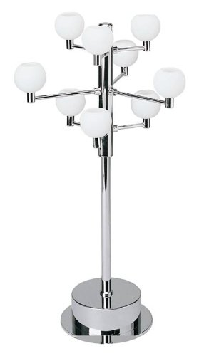 Lite Source LS-2048C/FRO Marble Collection 9-Lite Table Lamp, Chrome with Frost Glass Shade - Fro Chrome Finish